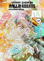 Aall & Create A4 STENCIL: Sunflower Power #77- sabluuna
