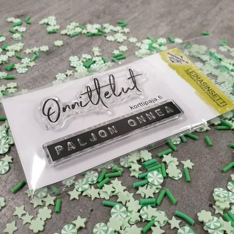 Heidin Korttipaja: Onnittelut  - leimasinsetti