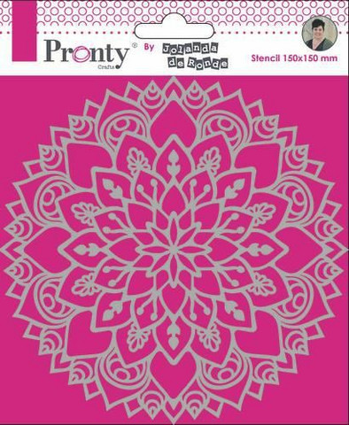 Pronty: Mandala #3 15 x 15 cm -sabluuna
