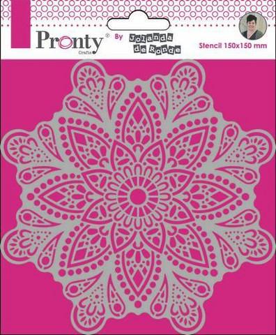 Pronty: Mandala #4 15 x 15 cm -sabluuna