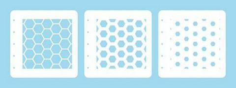 Nellies Choice: Layered Combi Stencil Set - Honeycomb -sabluunasetti