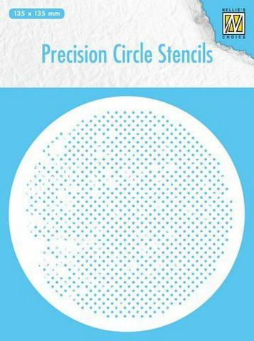 Nellies Choice: Precision Circle Stencil -  Round Squares -sabluuna