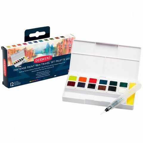 Derwent Inktense Paint Pan Travel Set #2 - vesivärit