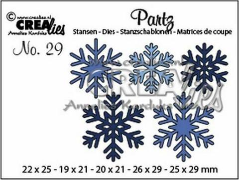 Crealies Partzz: Snowflakes