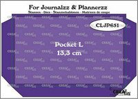 Crealies : For Journalzz & Plannerzz - Pocket L - stanssisetti