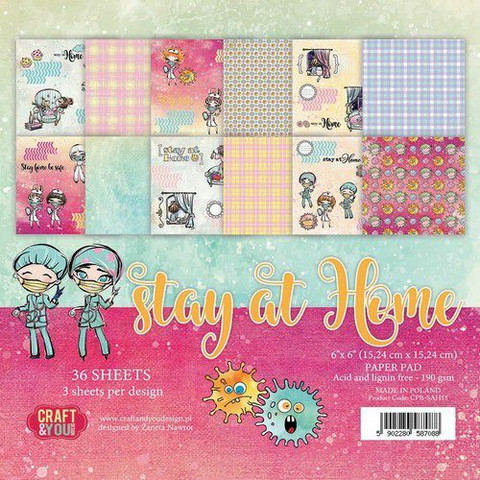 Craft & You Design: Stay Home 6x6 - paperikokoelma