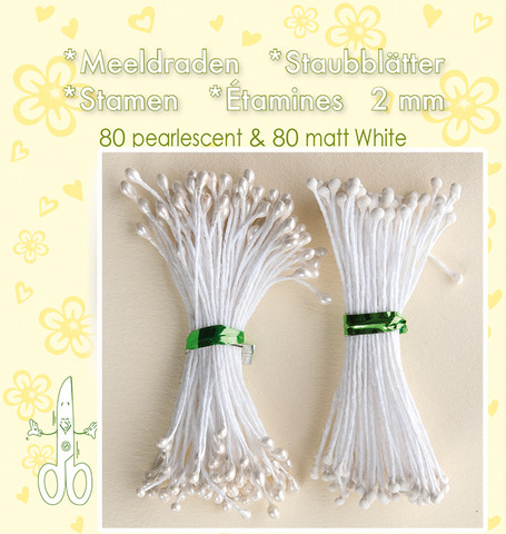 Leane Creatief Heteet  160 kpl -  Pearlecent & Matt White 2 mm