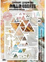 Aall & Create A4 STENCIL: Totally Triangular  #99 - sabluuna