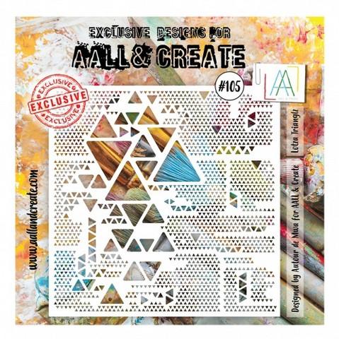 Aall & Create STENCIL Lotza Trianglz #105 - sabluuna