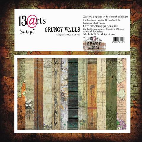 13arts: Grungy Walls  12x12 paperikokoelma