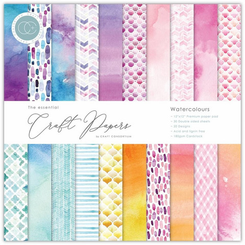 CC Essential Craft Papers 6 x 6 :  Watercolours