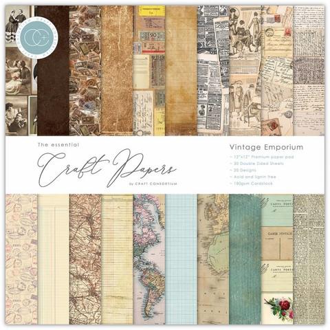CC Essential Craft Papers 6 x 6 :  Vintage Emporium