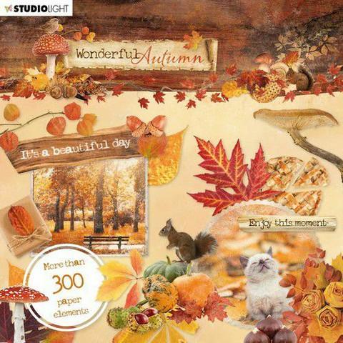 Studio Light: Wonderful Autumn Die Cut Book 15 x 15 cm  - leikekuvalehtiö