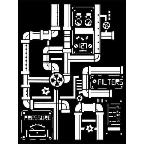 Stamperia: Pipes A5 -sabluuna