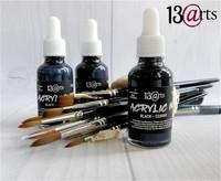 13arts Acrylic Ink: Black 30 ml