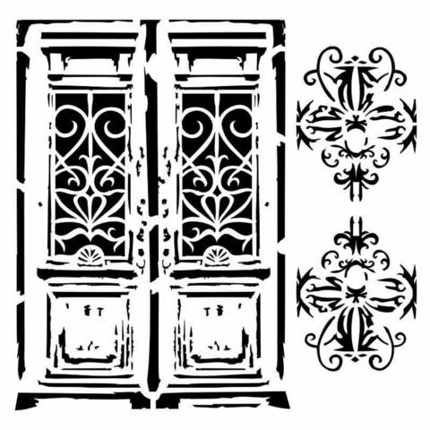 13arts: Vintage Door 6 x 6 -sabluuna
