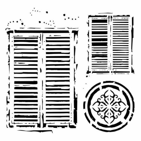 13arts: Windows in Venice 6 x 6 -sabluuna