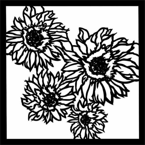 13arts: Sunflowers 6 x 6 -sabluuna