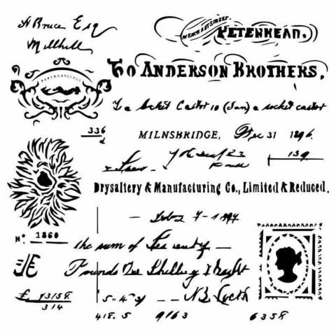 13arts: Vintage Letter 6 x 6 -sabluuna