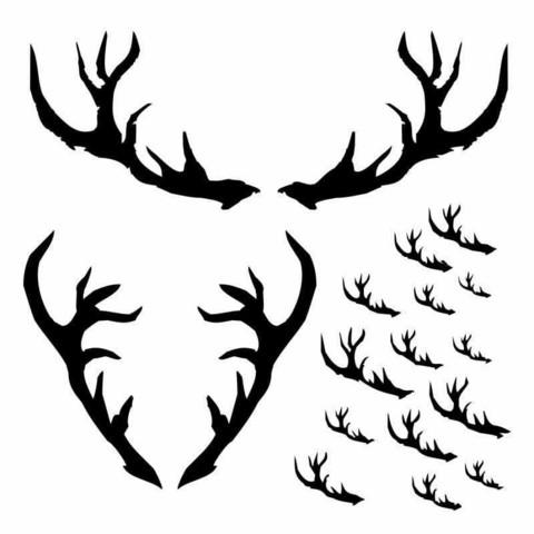13arts: Antlers 6 x 6 -sabluuna