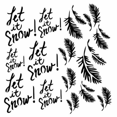 13arts: Let It Snow 6 x 6 -sabluuna