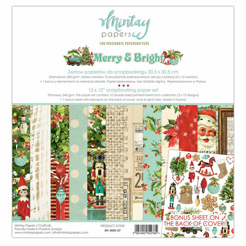 Mintay Papers: Merry & Bright 12x12 - paperikokoelma