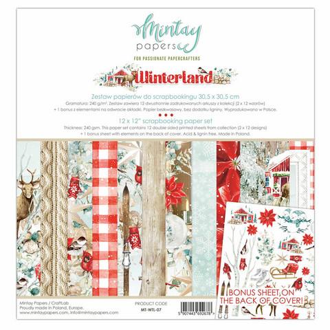 Mintay Papers: Winterland 12x12 - paperikokoelma