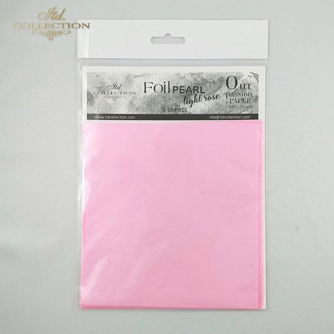 ITD Collection Foil Sheets: Pearl Light Rose