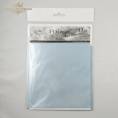 ITD Collection Foil Sheets: Pearl Silver Blue