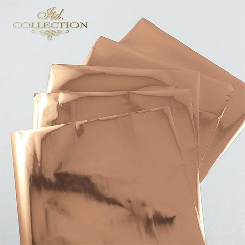 ITD Collection Foil Sheets: Rosy Gold Termoton