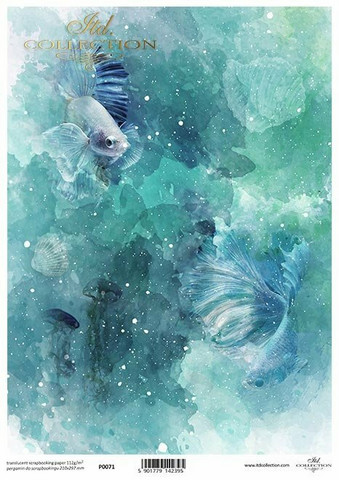 Printed Vellum A4: Underwater
