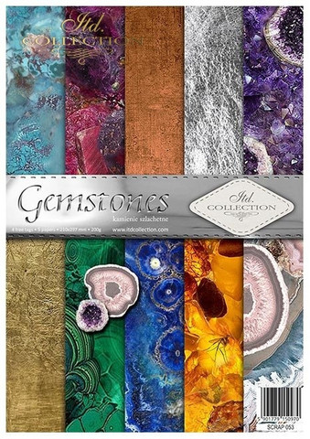 ITD Collection: Gemstones A4- paperikokoelma