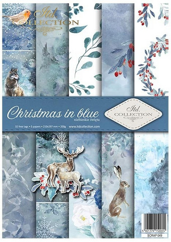 ITD Collection: Christmas in Blue A4- paperikokoelma