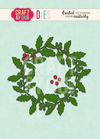 Craft & You: Holly Wreath -stanssisetti