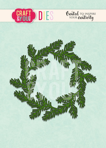 Craft & You: Conifer Wreath -stanssisetti