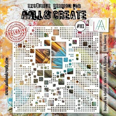Aall & Create STENCIL Lotza Squares #113 - sabluuna
