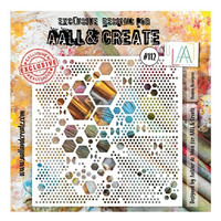 Aall & Create STENCIL Heapza Hexagons #112 - sabluuna