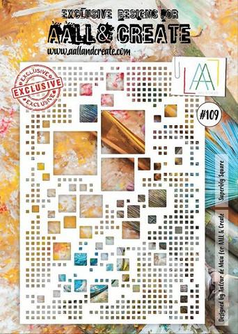 Aall & Create A4 STENCIL: Superbly Square  #109 - sabluuna