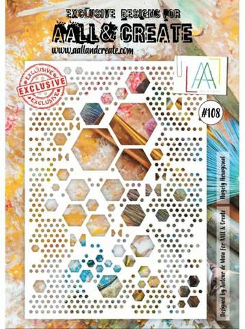 Aall & Create A4 STENCIL: Hugely Hexagonal  #108 - sabluuna