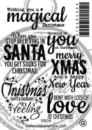Vilda Stamps: English Christmas Sentiments Unmounted - leimasinsetti