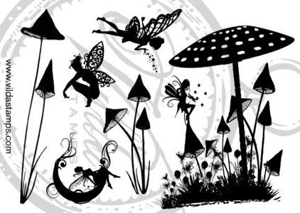 Vilda Stamps: Fantasy 1 Unmounted - leimasinsetti