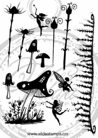 Vilda Stamps: Fantasy 2 Unmounted - leimasinsetti