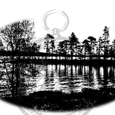 Vilda Stamps: Skog Silhouette - leimasin