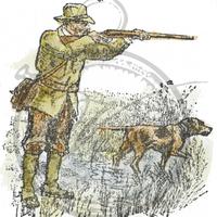 Vilda Stamps: Jägaren (metsästäjä) - leimasin