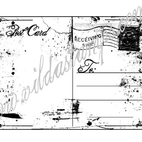 Vilda Stamps: Vykort- leimasin