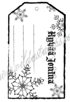 Vilda Stamps: Hyvää Joulua tagi/pakettikortti - leimasin