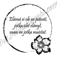 Vilda Stamps: Elämä ei ole ne päivät - leimasin