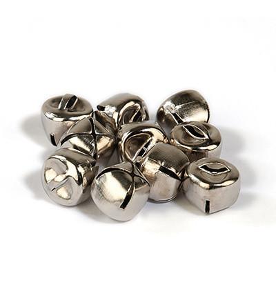 Kulkuset - hopea 10 mm/ 12 kpl (kulmikas malli)