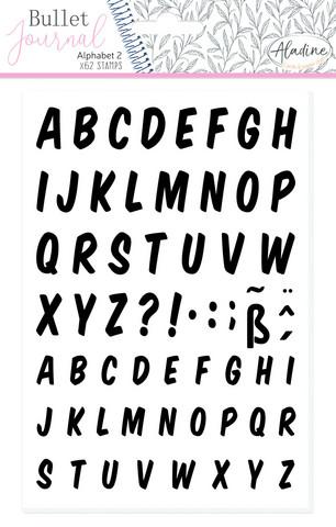 Aladine Bullet Journal Foam Stamps Alphabet 2  - leimasinsetti