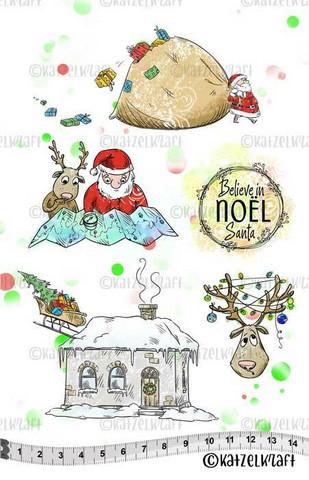 Katzelkraft: Noel Believe In Santa A5 - unmounted leimasinsetti